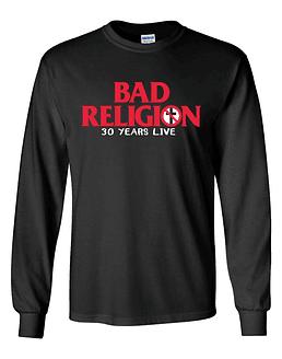 Polera M/L Bad Religion · 30 Years Live