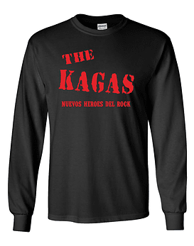 Polera m/l The Kagas · Nuevos Héroes Del Rock