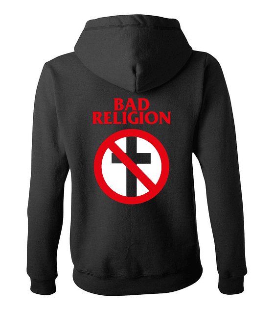 Polerón Con Cierre Mujer · Bad Religion Logo