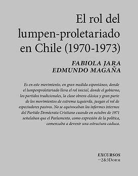 Cuadernillo · El Rol Del Lumpen-Proletariado en Chile (1970-1973)