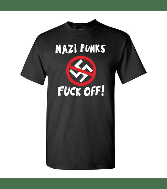 Polera M/C Dead Kennedys · Nazy Punk Fuck Off!