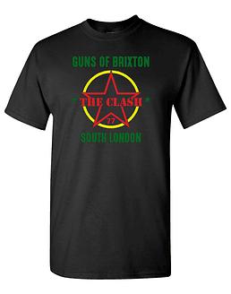 Polera M/C The Clash · Guns Of Brixton