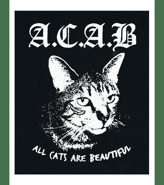 Parche Serigrafía · A.C.A.B. All Cats Are Beautiful