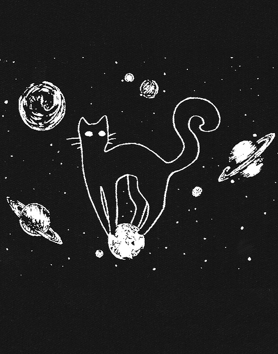 Parche Serigrafia · Gato y Planetas