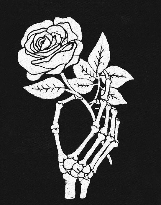 Parche Serigrafia · Mano Con Rosa