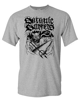 Polera M/C Serigrafía Satanic Surfers
