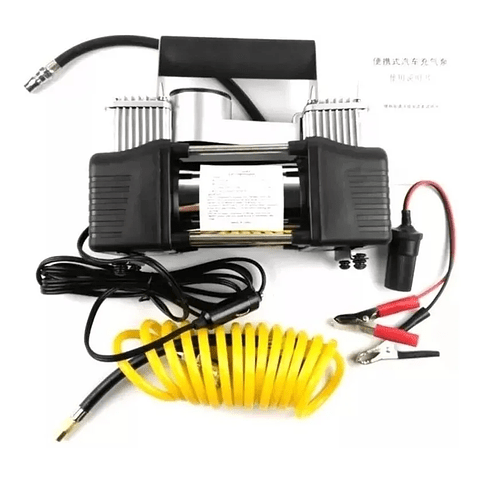 Caja Compresor Aire Doble Cilindro 12v Inflador Neumaticos 360-005