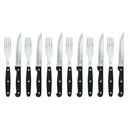 Set Cuchillos Para Carne Y Tenedor 12pzas Oster Ost-26336