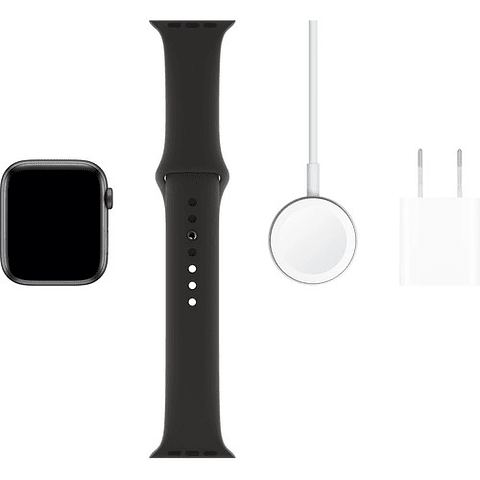 Apple Reloj Serie 5 (GPS, 44mm, Space Gray Aluminum, Negro Sport Band)