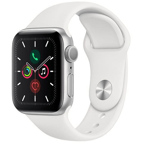 Apple Watch Series 5 40mm MWV62LL / A A2092 – Plateado / Blanco