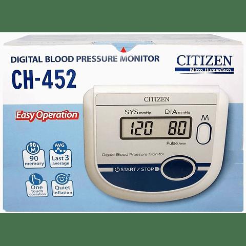 Citizen CH-452 Medidor de Presión Arterial, blanco/azul