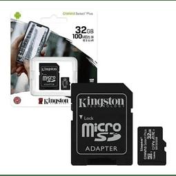 Tarjeta Micro Sd 32gb Kingston Canvas Select Plus