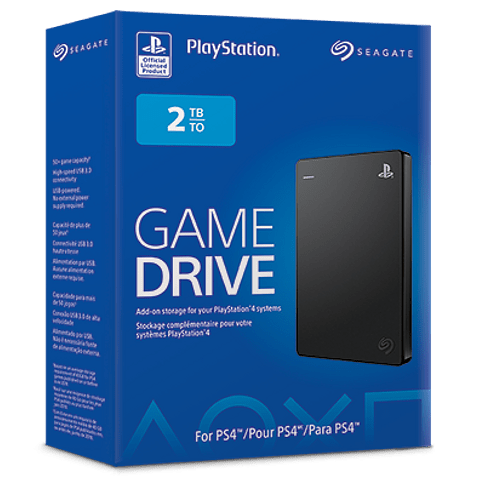 Seagate Game Drive for PS4 STGD2000100 - Disco duro - 2 TB - externo- USB 3.0