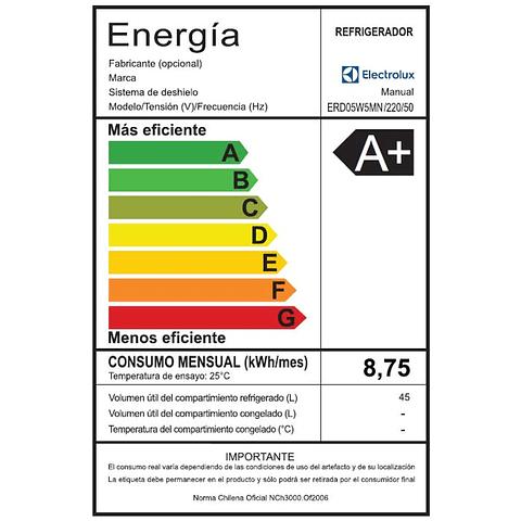 FRIGOBAR ELECTROLUX ERD05W5MNS 45 L