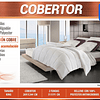 Cobertor King blanco infusion cobre