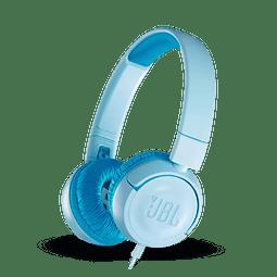 JBL JR300  Auriculares supraaurales para niños con cable azul