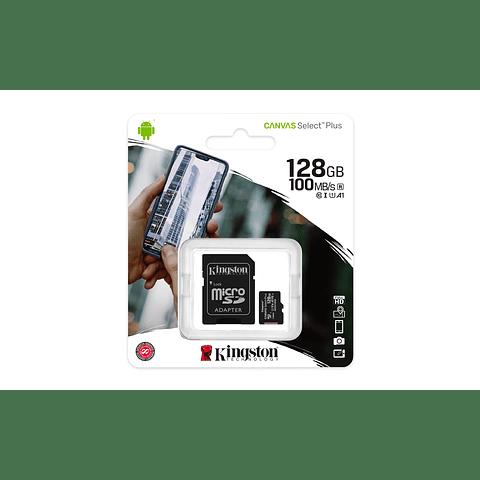 Kingston Memoria MicroSDXC 128GB Canvas Select Plus 100R/85R, Class 10 UHS-I