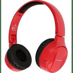 Pioneer - Auriculares estéreo inalámbricos con Bluetooth, color negro (SE-MJ553BT-R) Rojo