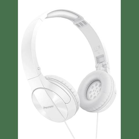 Audífonos con cable Pioneer On Ear SE-MJ503 Blanco