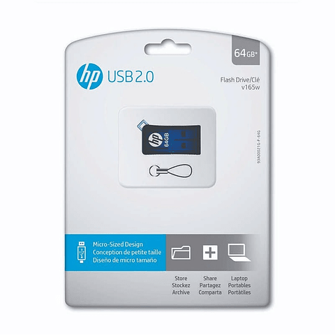 HP | PEN DRIVE HP V165 64GB  AZUL