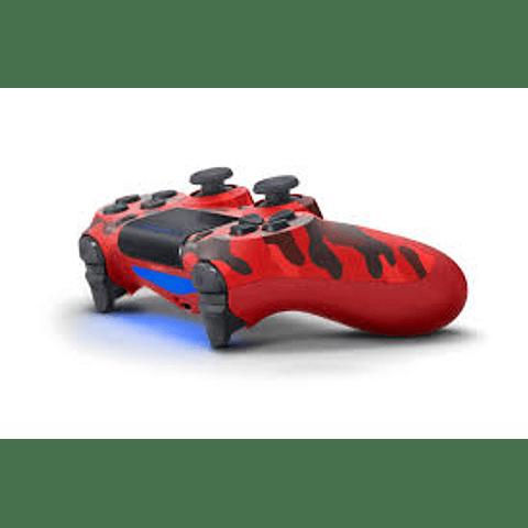 Control Dualshock Playstation 4 Rojo camuflado