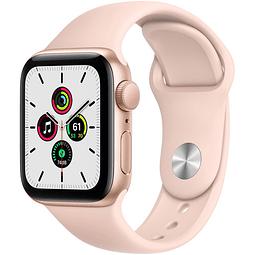 Apple Watch SE (GPS, 40mm, dorado Aluminum, banda deportiva rosado arena) MYDN2LL/A