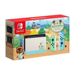CONSOLA NINTENDO SWITCH diseño ANIMAL CROSSING (no incluye juego animal crossing)