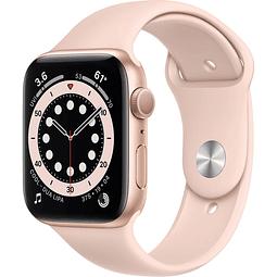 Apple Watch Series 6 - 44mm, Color Dorado con correa Pink sand