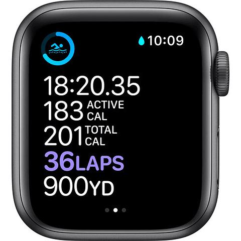 Apple Watch Series 6 (GPS, 40mm, aluminio gris, banda deportiva negro) MG133LL/A