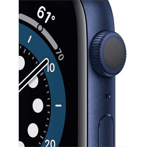 Apple Watch Series 6 (GPS, 40mm, aluminio azul, banda deportiva azul) MG143