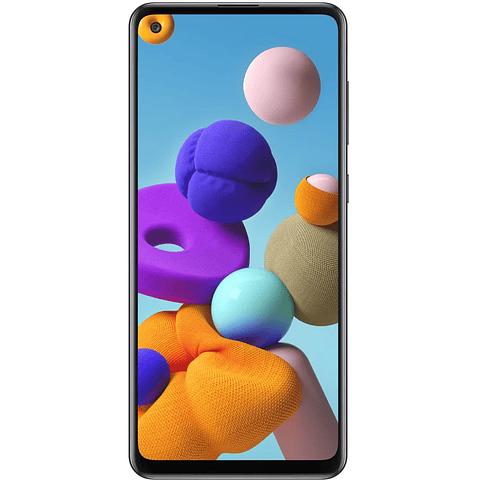 Smartphone Samsung Galaxy A21S 128GB  DUAL SIM color AZUL  + memoria 32gb de regalo
