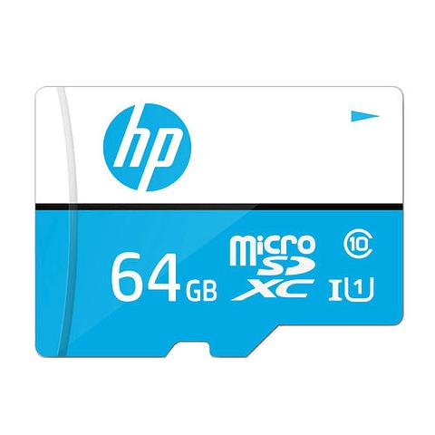 HP MEMORIAS MICRO SD 64GB CLASE 10 100MB/S CON ADAPTADOR