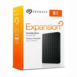 Disco Duro Externo Seagate Expansion 5 TB  Usb 3.0 Negro