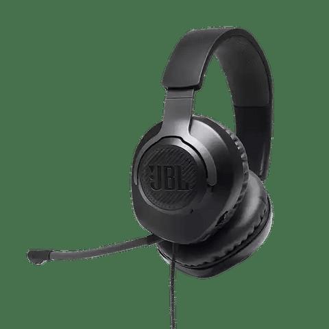 JBL Quantum 100 Auriculares integrales para PC, gaming con cable y un micrófono extraíble