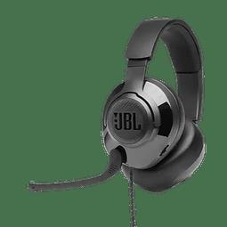 JBL Quantum 300 Auriculares integrales híbridos para gaming con cable y micrófono abatible
