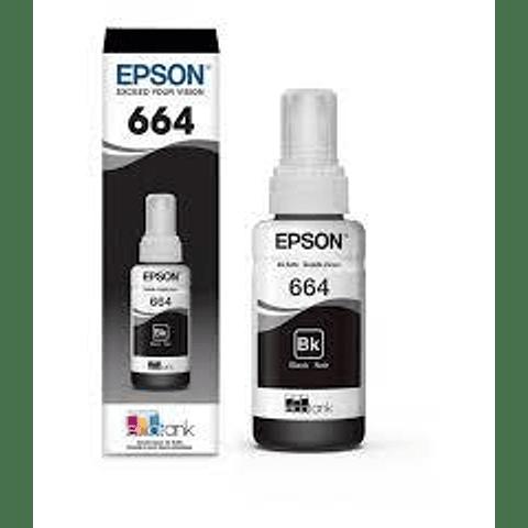 Epson® Tintas-BotellasT664 venta individual NEGRO