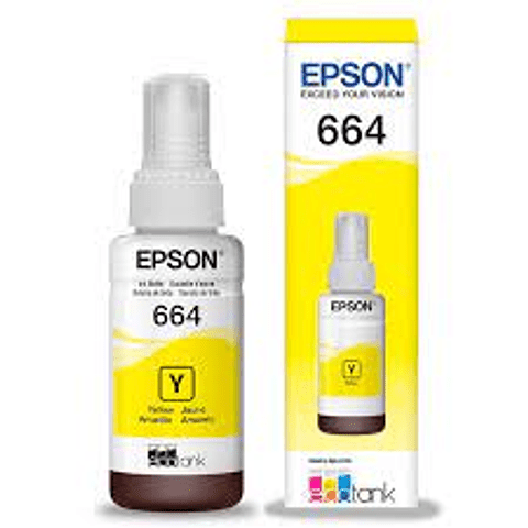 Epson® Tintas-BotellasT664 venta individual color AMARILLO