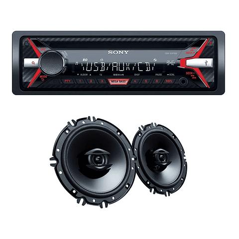 Radio Sony Car Auto CXSG11716U CD/USB-AUX 2 Parlantes