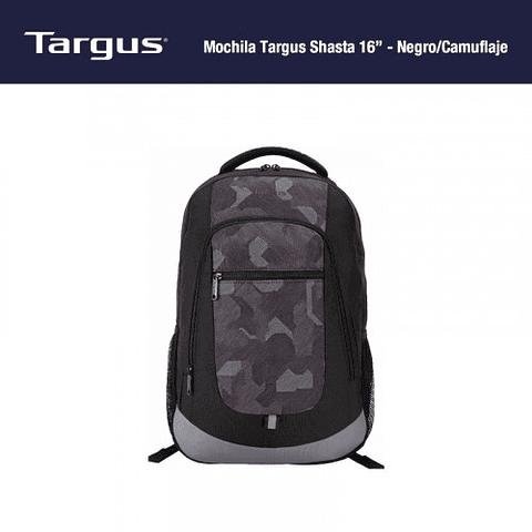 Mochila Targus Shasta 16 – Negro/camuflaje Tsb61904-70