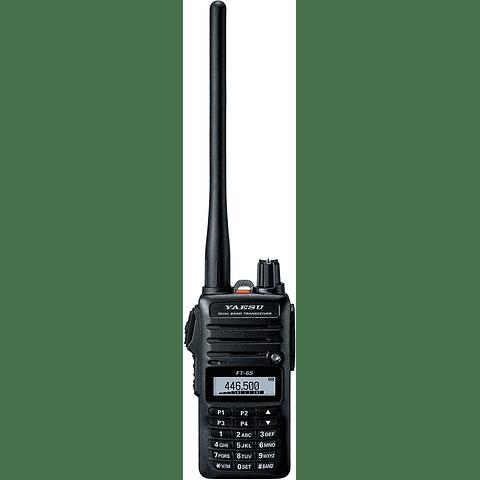 Yaesu RADIO FT-65 FT-65R 144/440 Dual Band Robusto y Compacto Transceptor de mano, 5W
