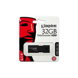 Pendrive 32GB Kingston DataTraveler® 100 G3 (DT100G3) USB 3.0, con tapa deslizante