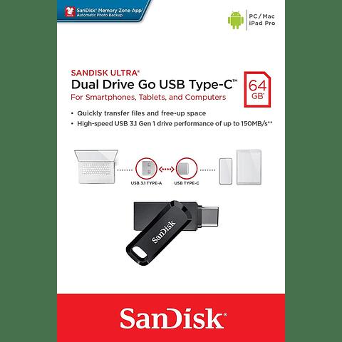 Ultra Dual Drive Go con USB Type-C™ de SanDisk 64GB