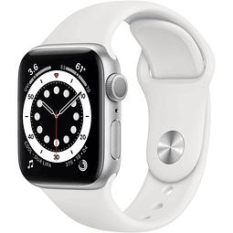 Apple Watch Series 6 (GPS, 40mm, aluminio gris, banda deportiva negro) MG283LL/A