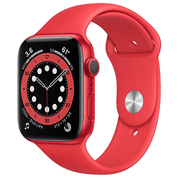 Apple Watch Serie 6 (GPS, 44mm, correa Sport Band color ROJO) MOM3LL/A