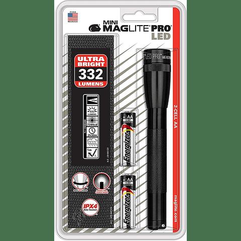 Minilinterna MagLite PRO LED, con 2 pilas AA SP2P01H
