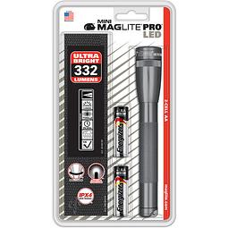 Minilinterna MagLite PRO LED, con 2 pilas AA 332 LUMENS SP2P09H