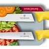 Cuchillo Verduras 2 Unidades Dentado+Liso Amarillo 10 cms Victorinox - 6.7796.L8B