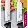Cuchillo Verduras 2 Unidades Dentado+Liso Negro 10 cms Victorinox - 6.7793.B