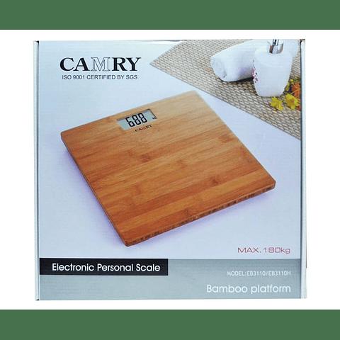 Balanza Digital Camry EB3110 Plataforma de Bamboo