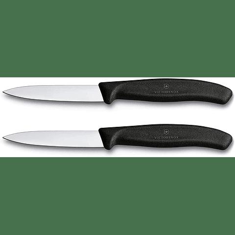 Victorinox 6.7603.B Suiza Classic - 2 un de 8cms de hoja recta de punta de lanza color negro